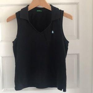 United Colors of Benetton black sleeveless polo SM